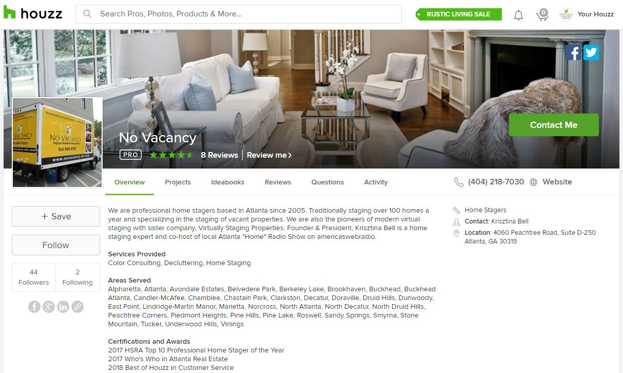 No Vacancy Home Staging Wins \