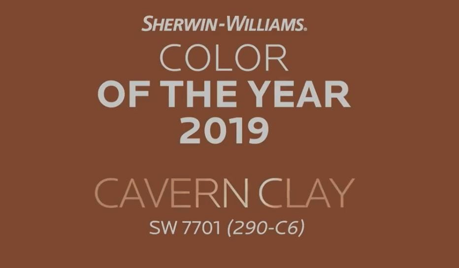 Sherwin Williams 2019 Color Of The Year - Cavern Clay