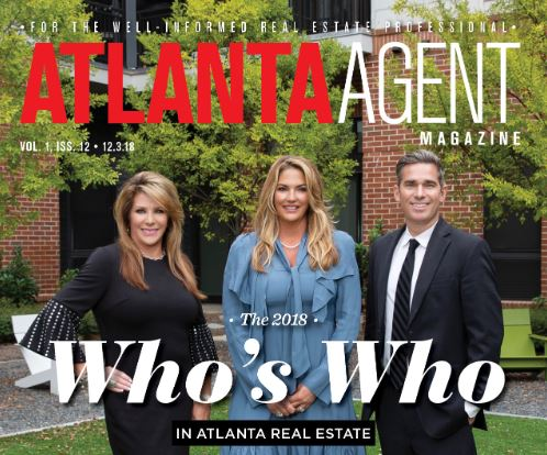 Magazine cover of Atlanta Agent Magazine with 3 real estate agents on the cover.