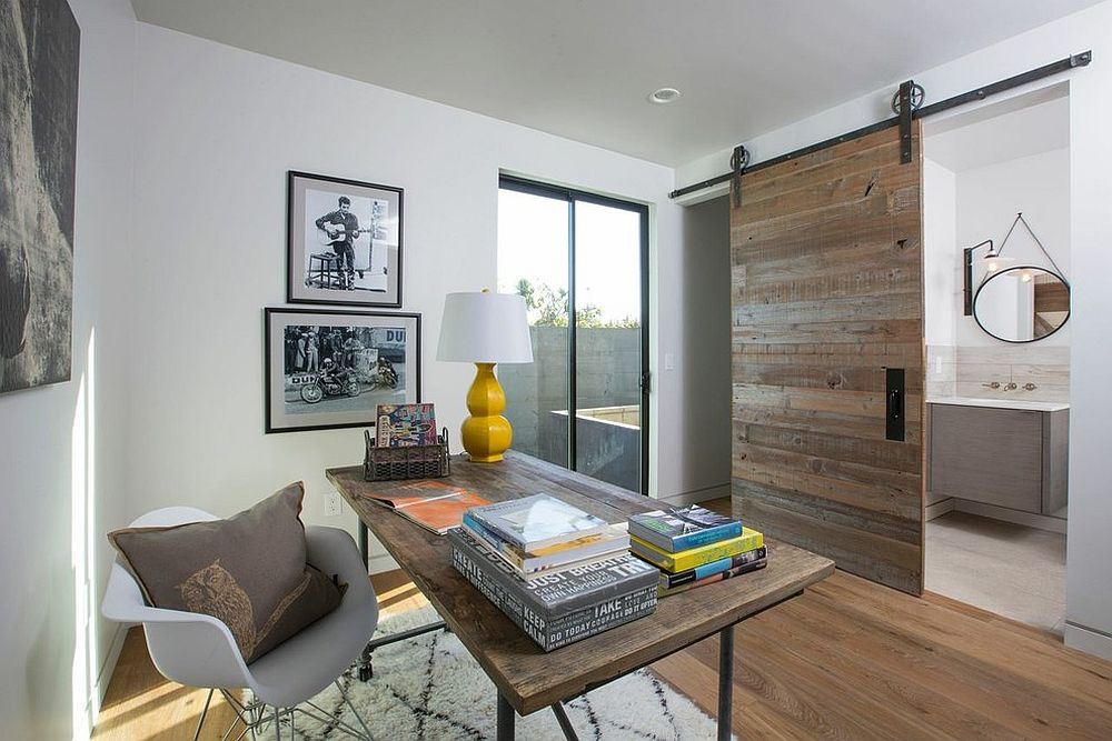 barn door ideas used in a home office