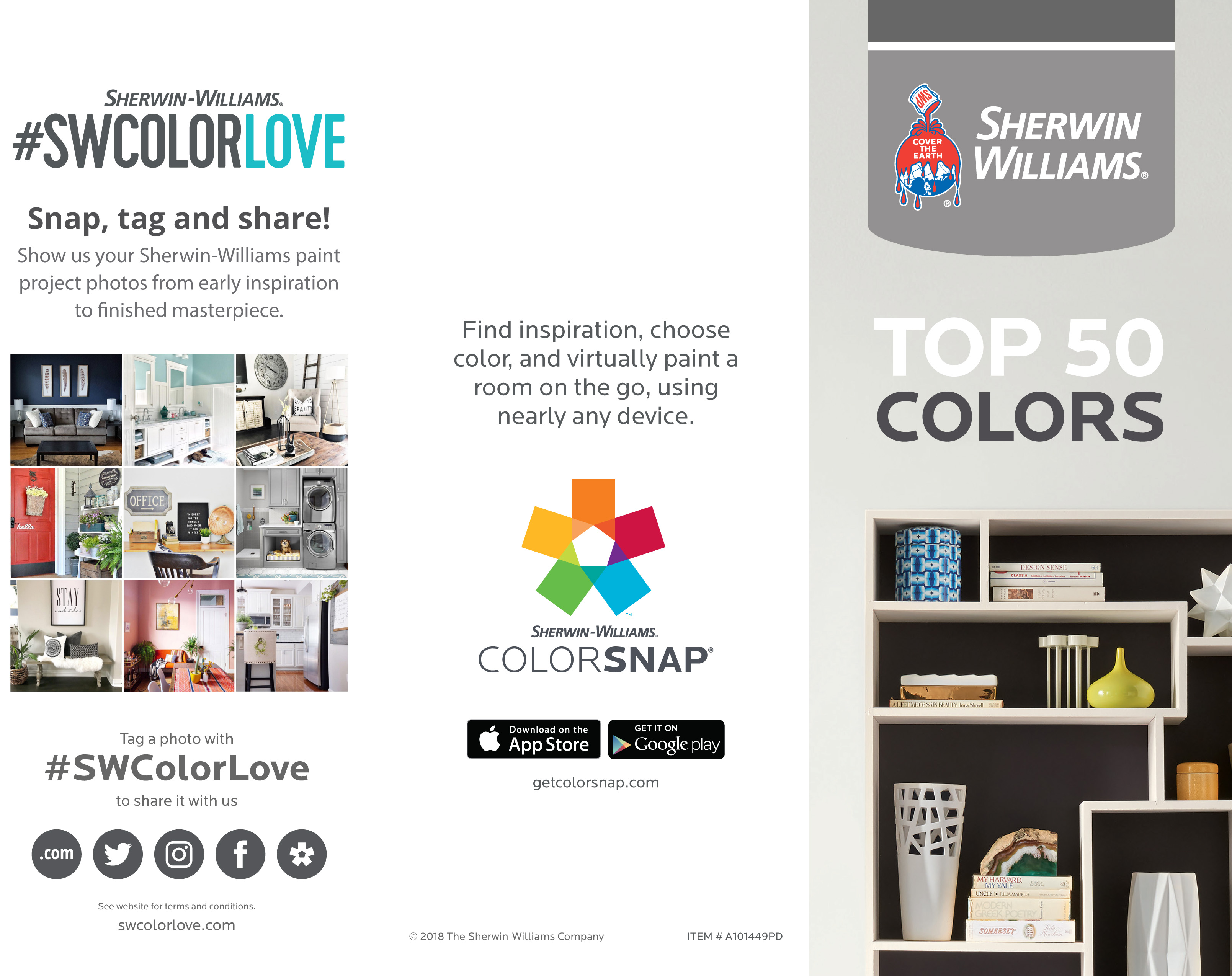 Sherwin Williams color infographic.