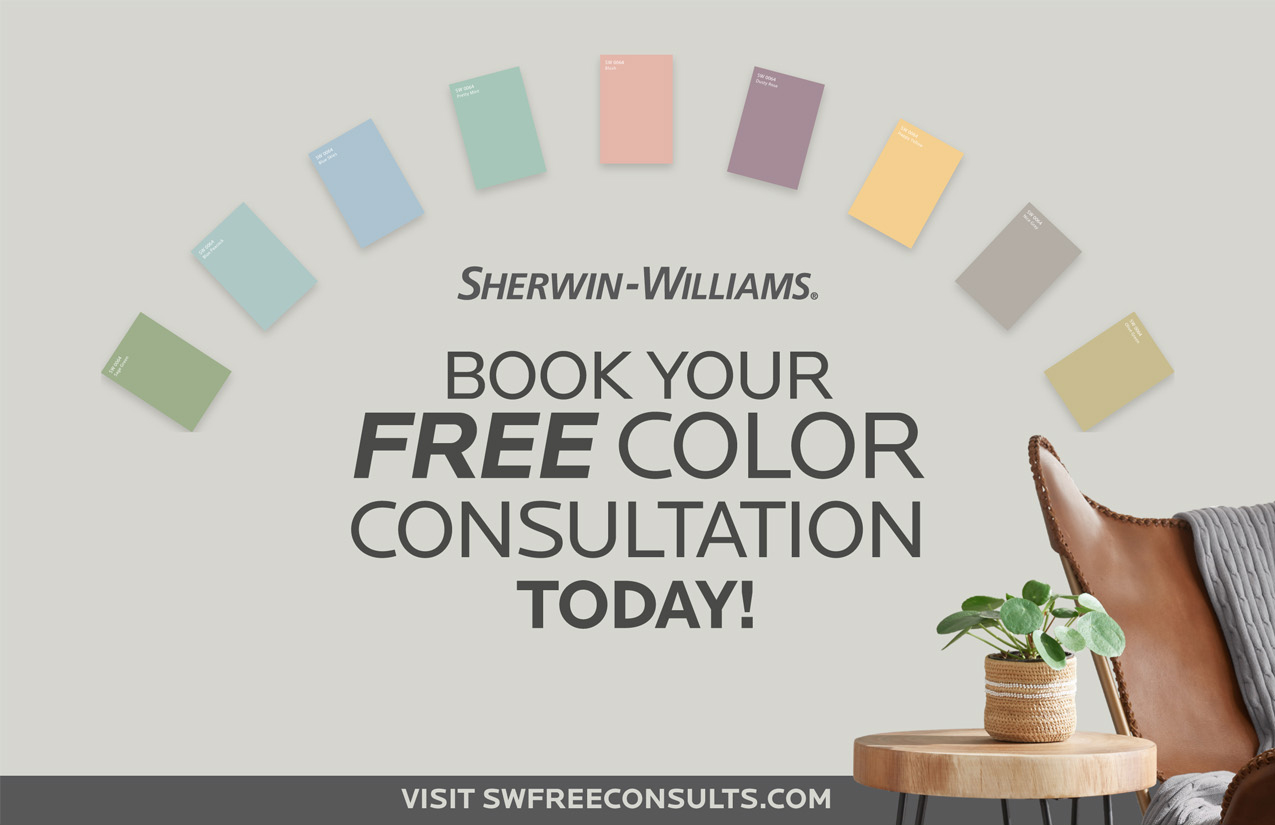 Free color consultation graphic from sherwin williams