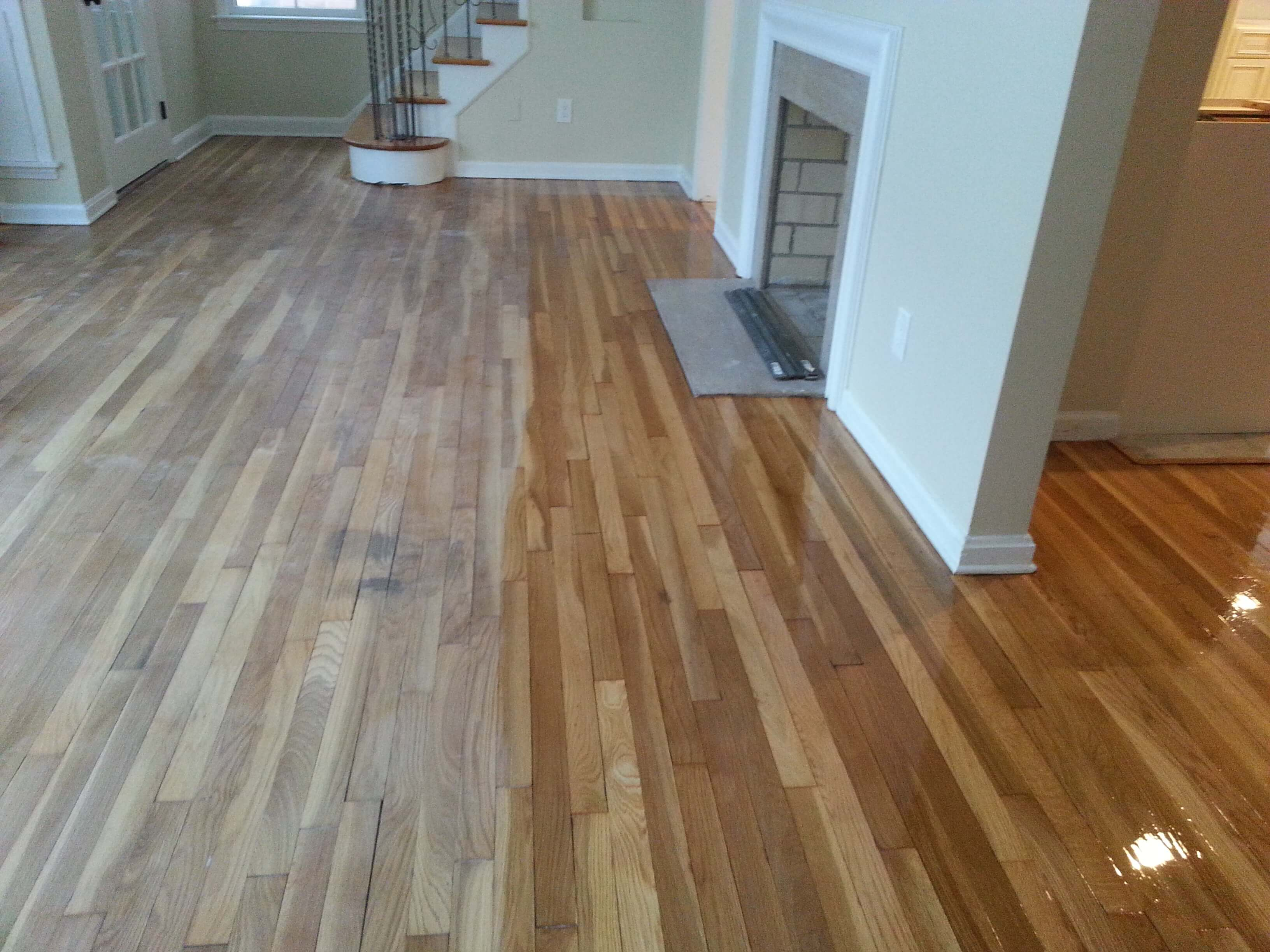 Newly finished hardwood floors.