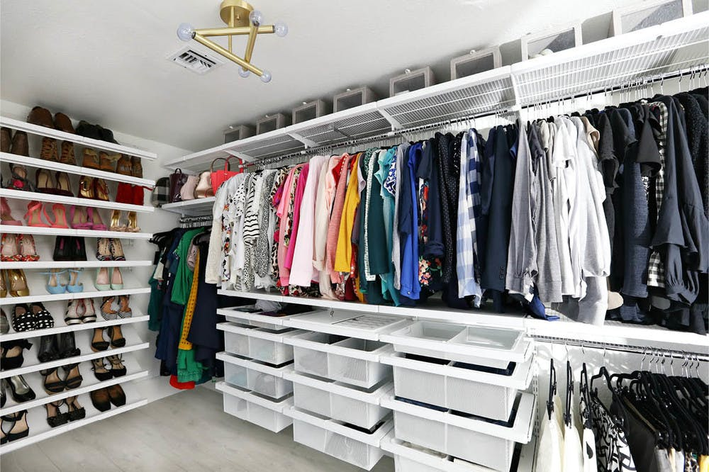 Organized closet with no clutter