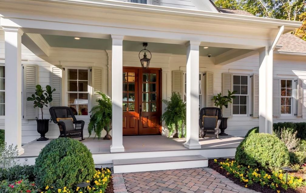 Front patio steps of luxury home