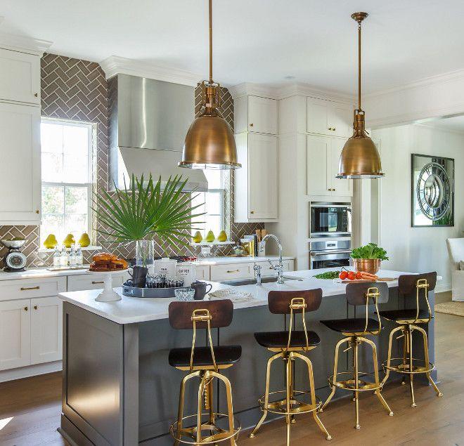 Kitchen Island featuring Urbane Bronze