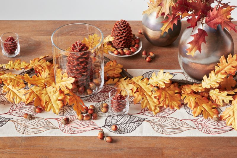 Dining room table with Fall decor