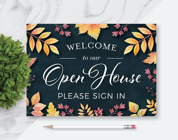 Fall-themed Open House signup sheet