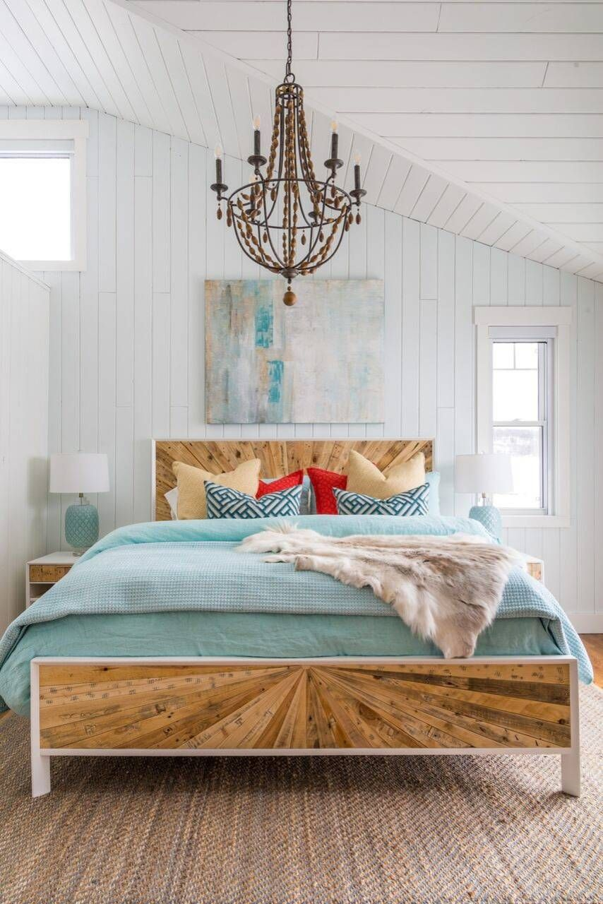 Bedroom styled with beach decor