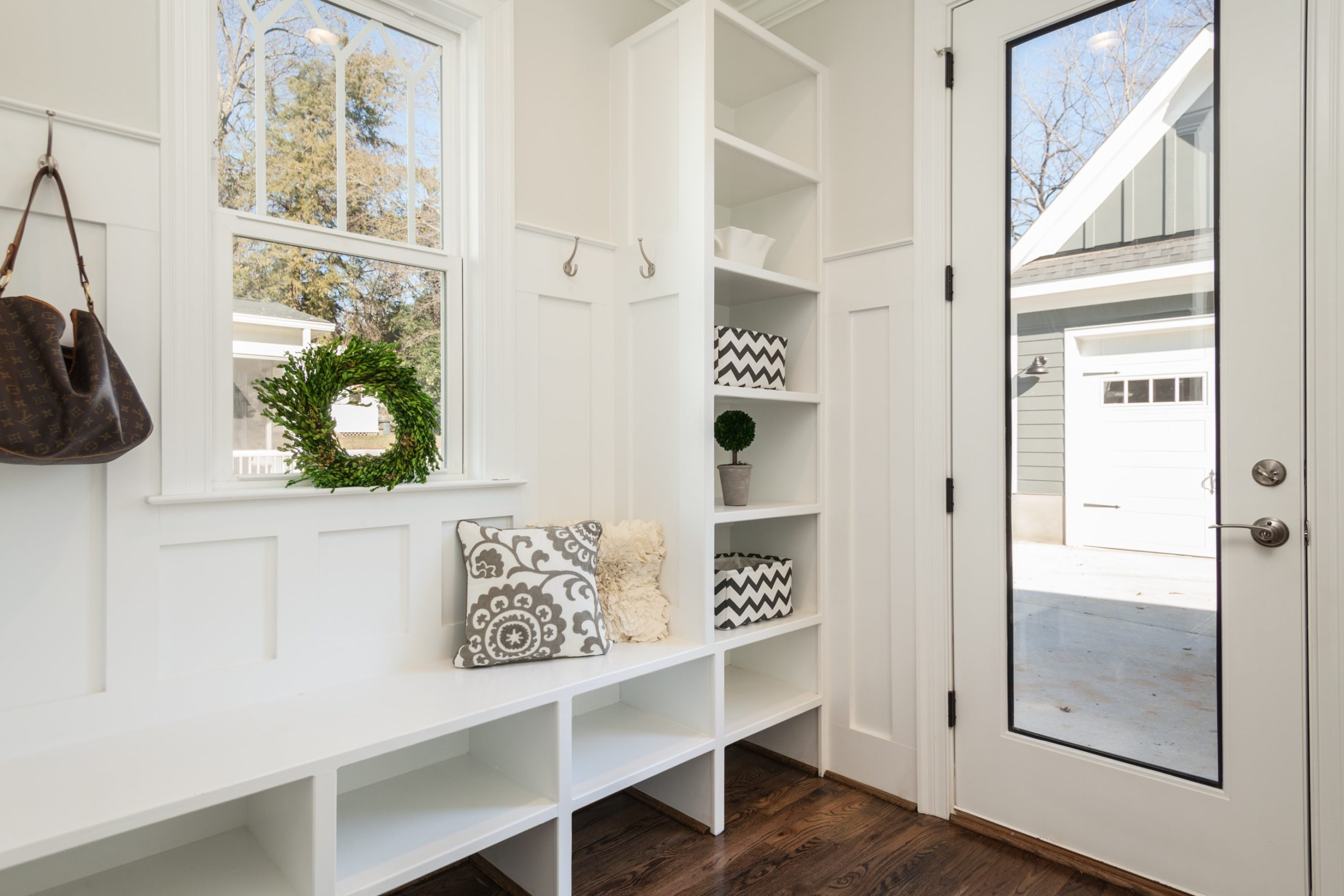 Newly renovated entranceway in a home