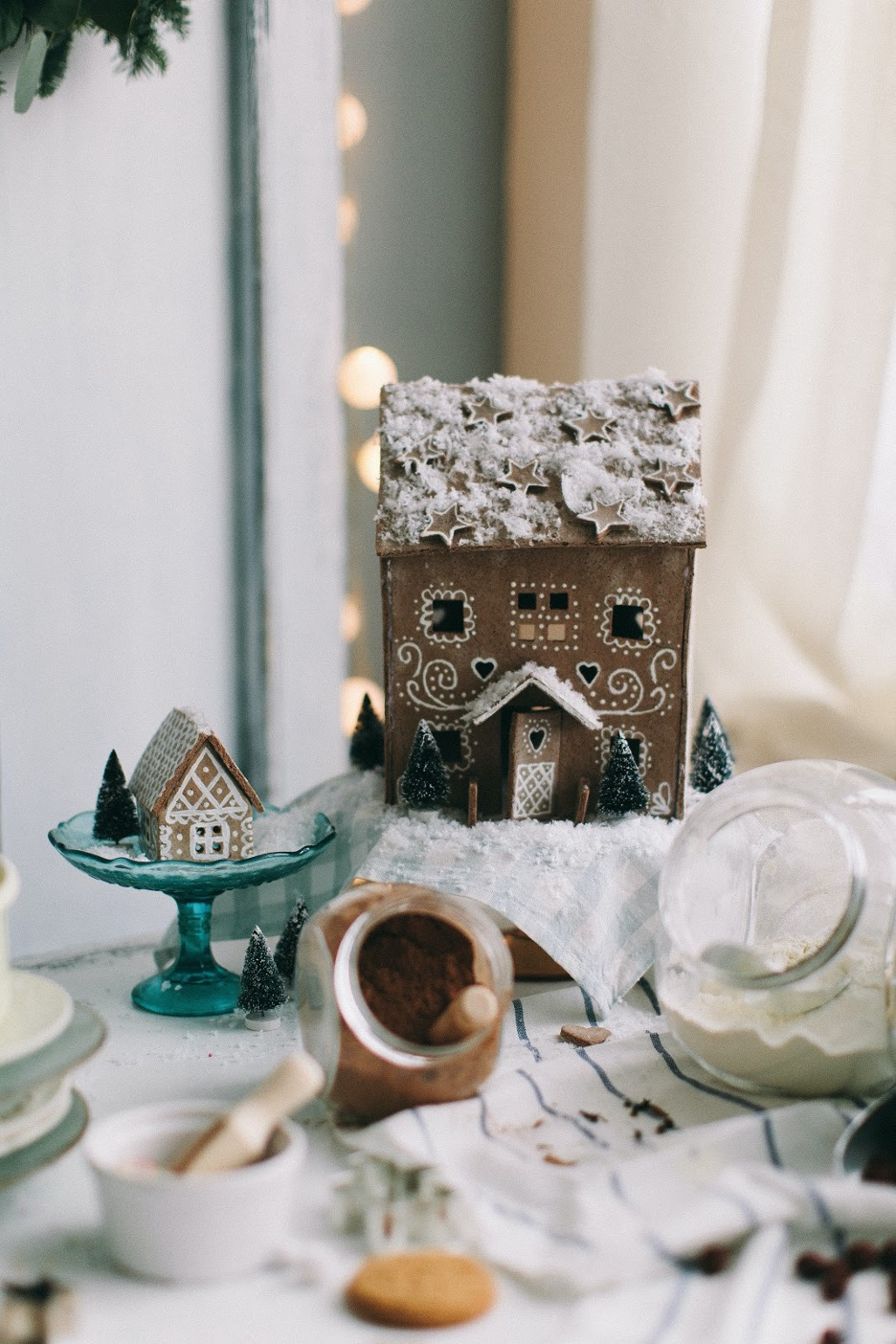 Elegant gingerbread house