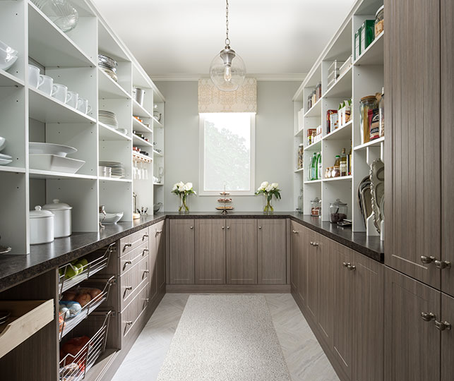 Upscale residential pantry
