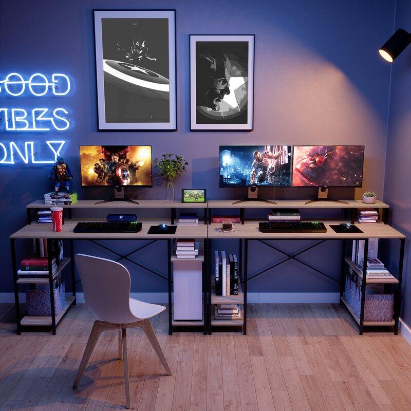 Gamer setup in home office