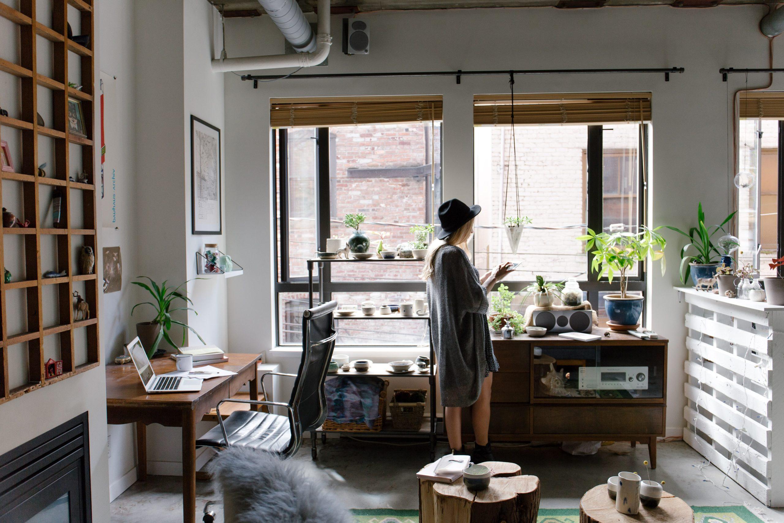 modern eclectic urban apartment