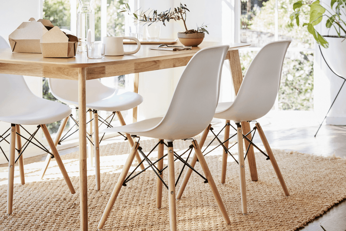 Rental dining furniture from Feather