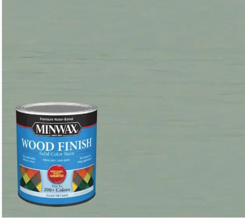Vintage blue wood finish by Minwax